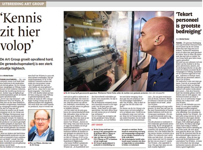 Artikel Brabants Dagblad   ART Group